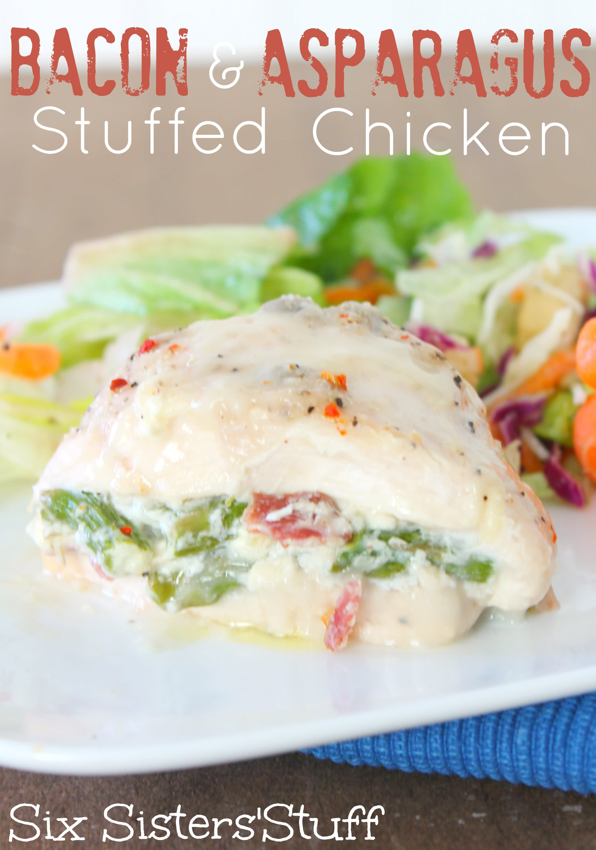 Bacon and Asparagus Stuffed Chicken