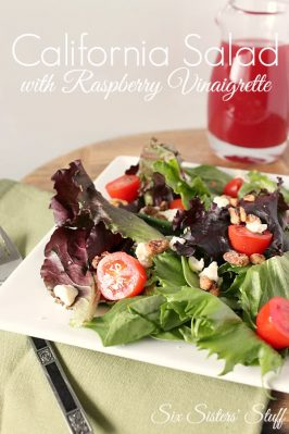 California Salad with Raspberry Vinaigrette Dressing