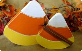 Halloween Wood Candy Corn Craft Tutorial