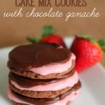 chocolate-strawberry-cake-mix-cookies-with-chocolate-ganache