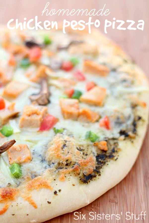 Homemade Chicken Pesto Pizza Recipe