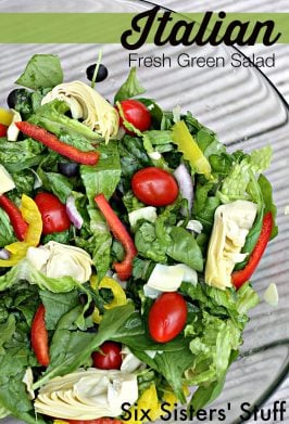 Italian Fresh Green Salad Recipe