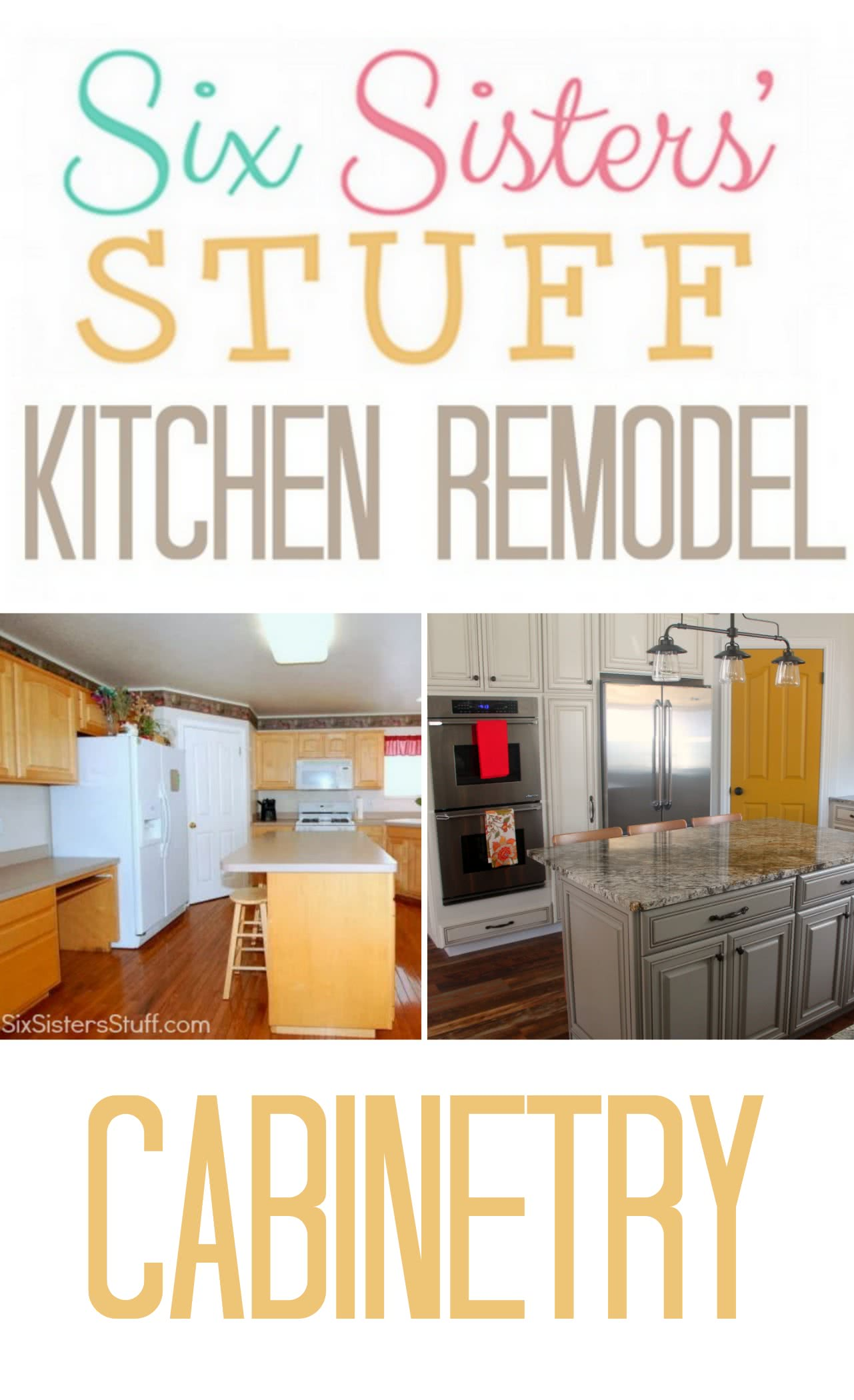 Six Sisters' Stuff Kitchen Remodel: Cabinetry