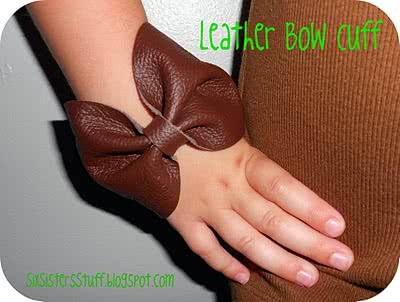 Leather Bow Cuff Bracelet Tutorial