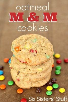 Oatmeal M & M Cookies Recipe
