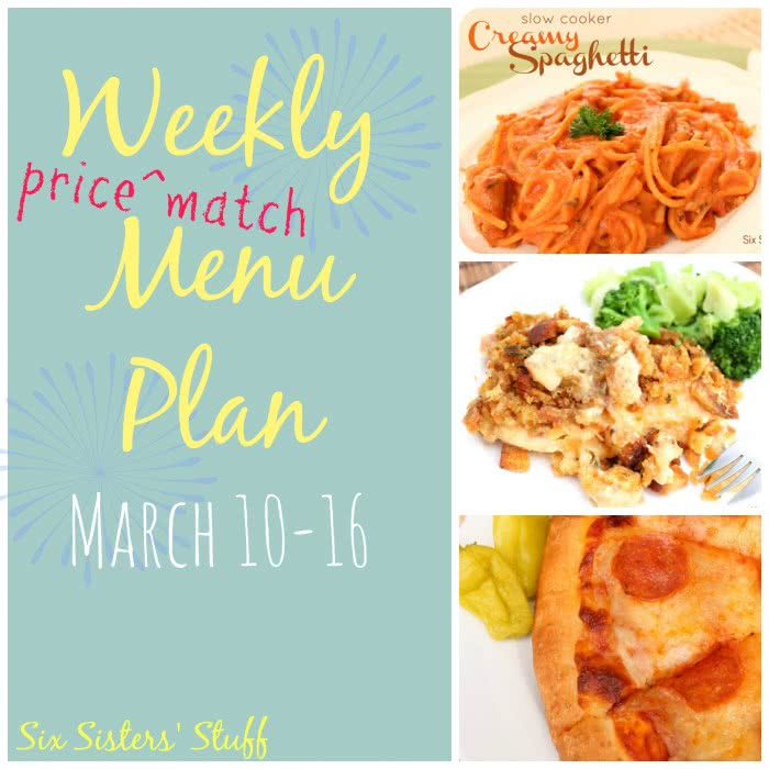 Weekly Menu Plan March 10-16