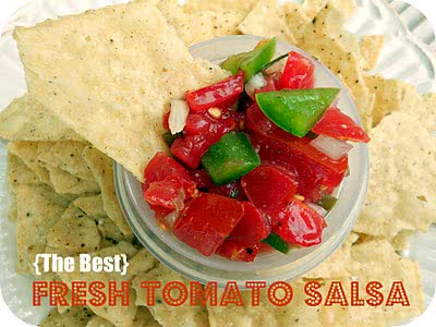 {The Best} Fresh Tomato Salsa