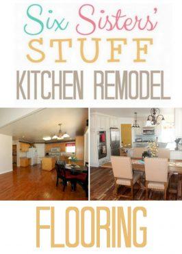 Six Sisters' Stuff Kitchen Remodel: Flooring