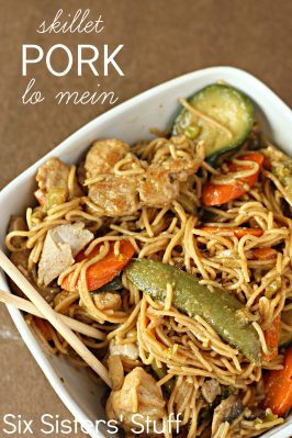 20 Minute Skillet Pork Lo Mein Recipe