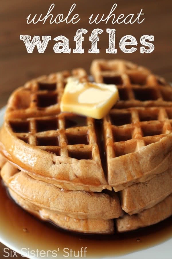 Homemade Whole Wheat Waffles Recipe / Six Sisters' Stuff ...