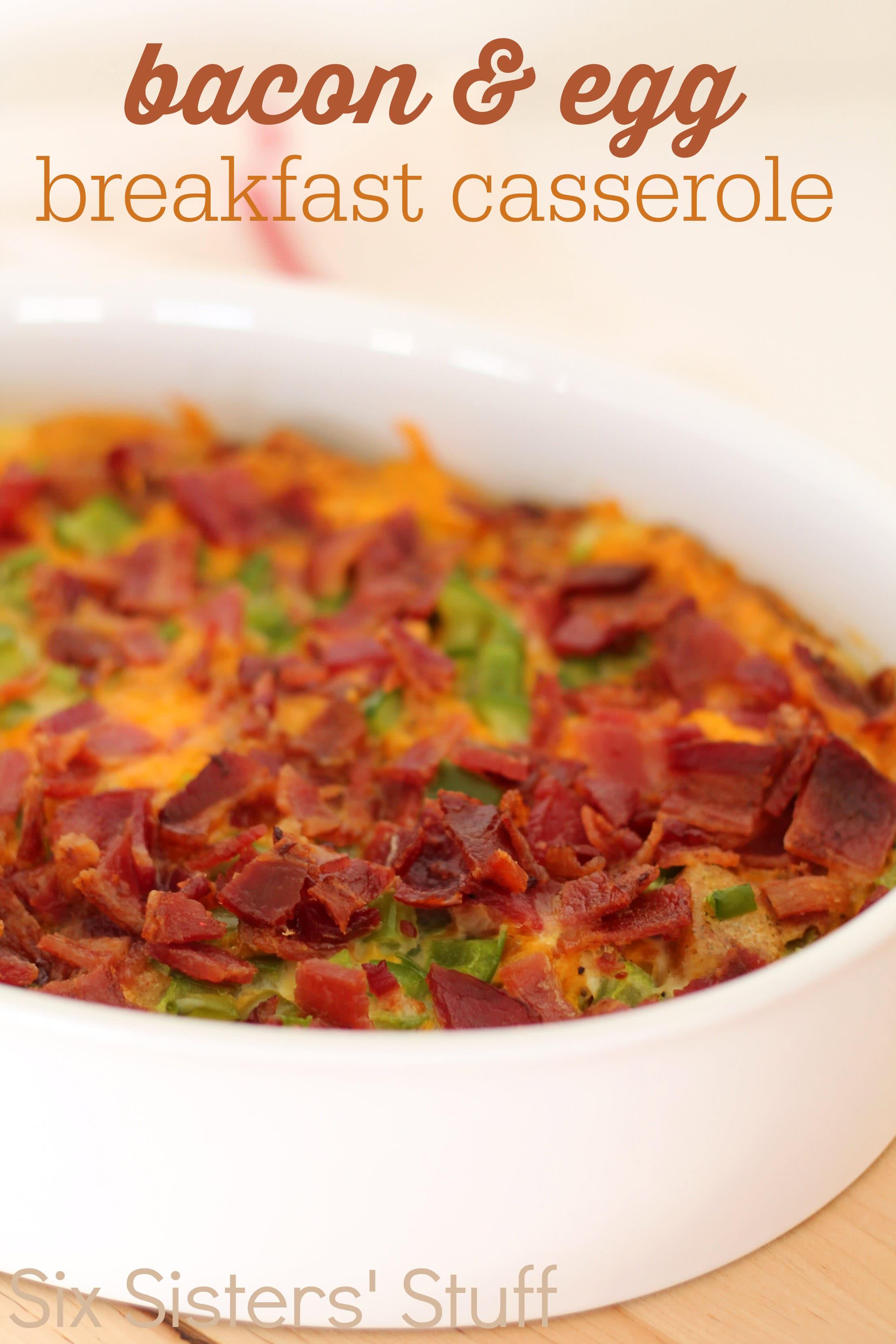 Bacon and Egg Breakfast Casserole Recipe