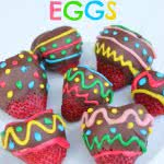 Chocolate Dipped Strawberry Easter Eggs