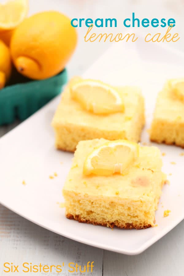 Cream Cheese Lemon Cake Recipe