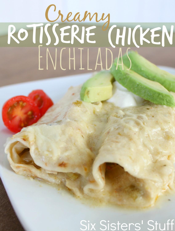 Creamy Rotisserie Chicken Enchiladas Recipe