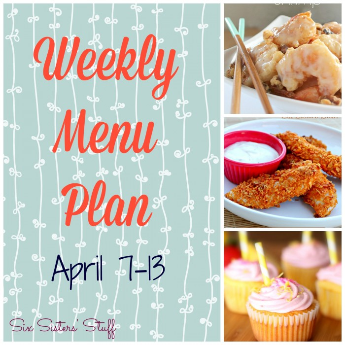 Weekly Menu Plan April 7-13