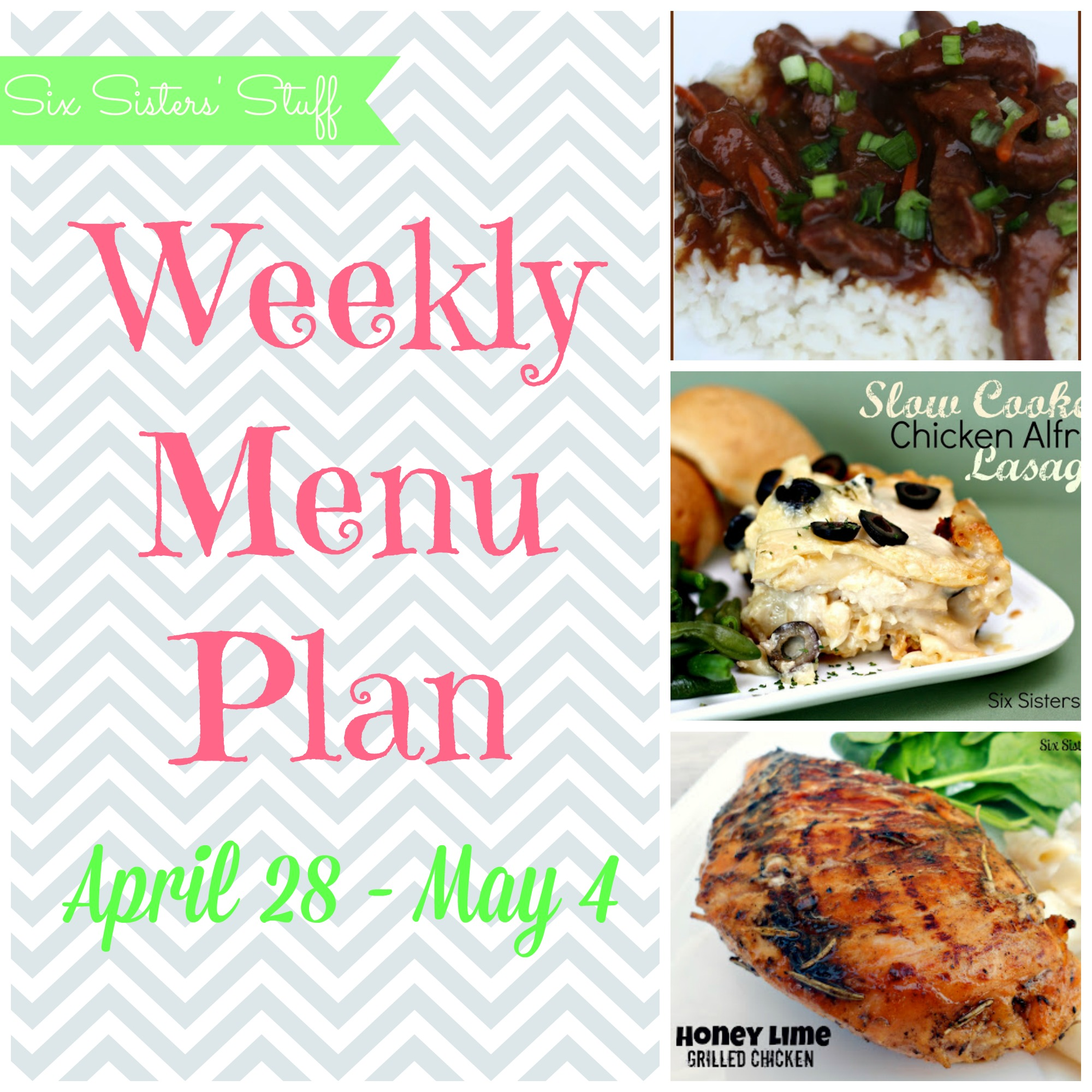 Weekly Menu Plan April 28-May 4