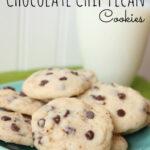 Shortbread Chocolate Chip Pecan Cookies