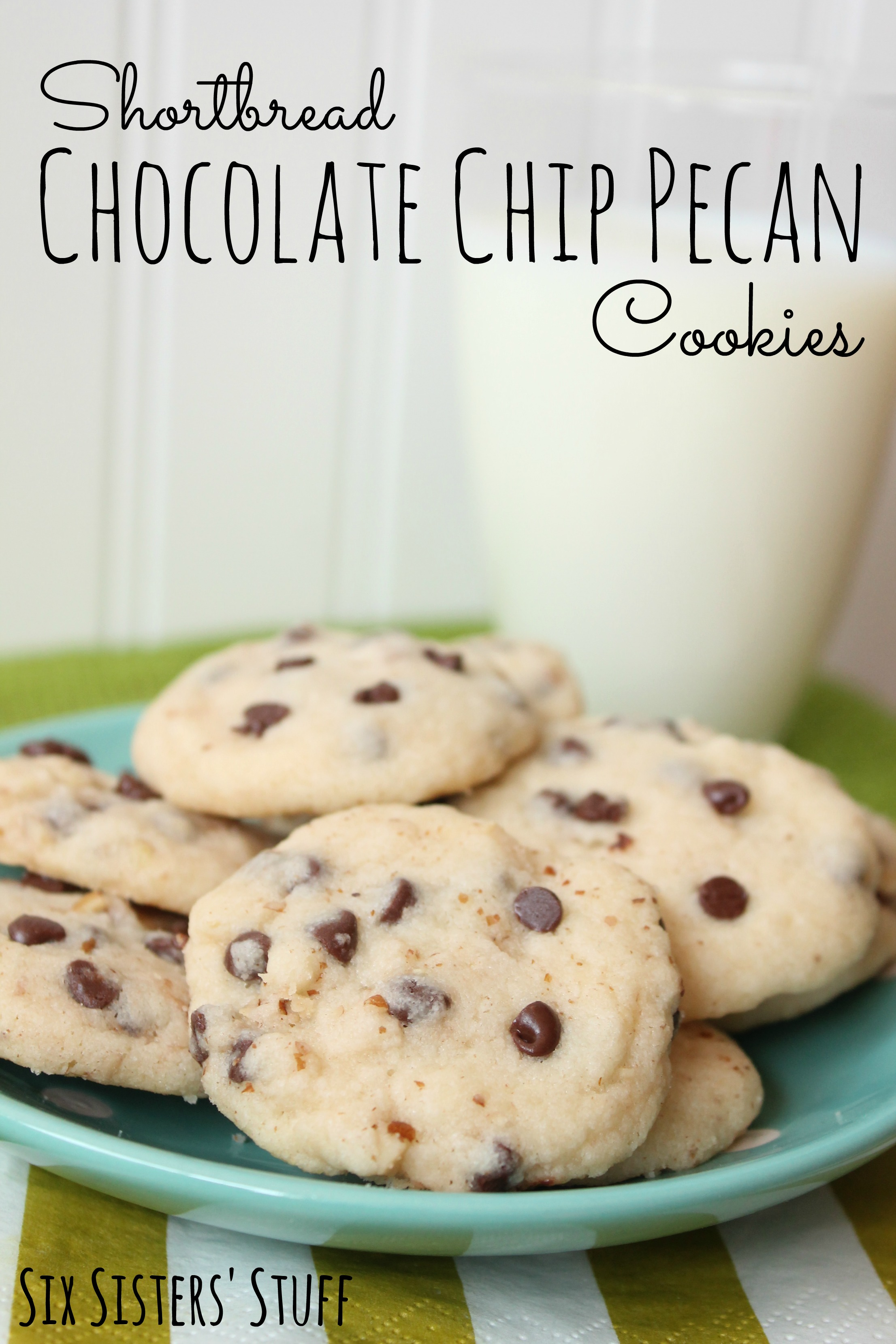 Shortbread Chocolate Chip Pecan Cookies