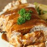 Slow Cooker Honey Balsamic Pork Roast