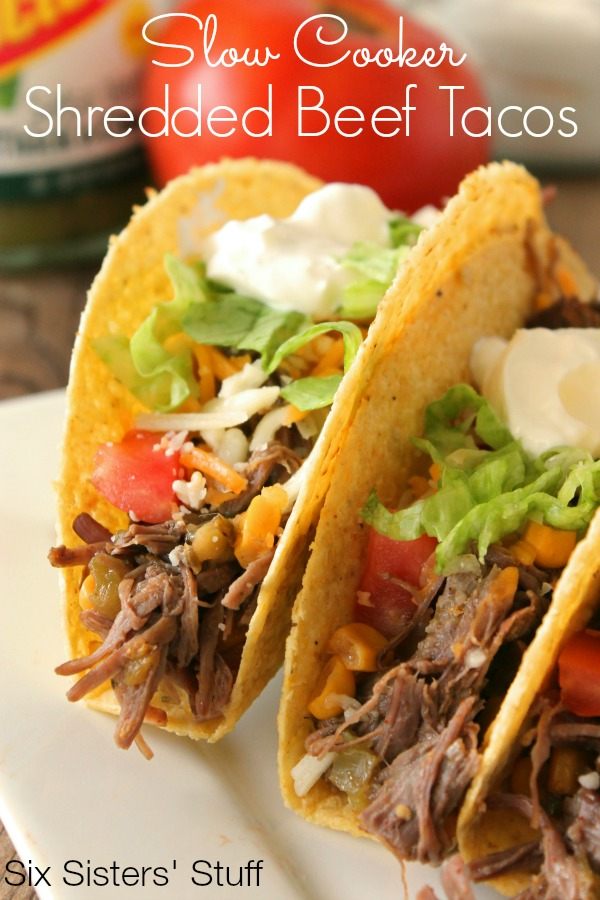 Slow Cooker Shredded Beef Tacos Recipe