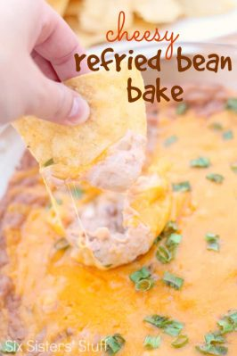 Cheesy Refried Bean Bake