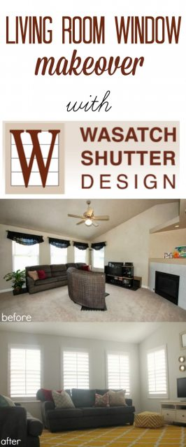 Living Room Window Makeover with Wasatch Shutters