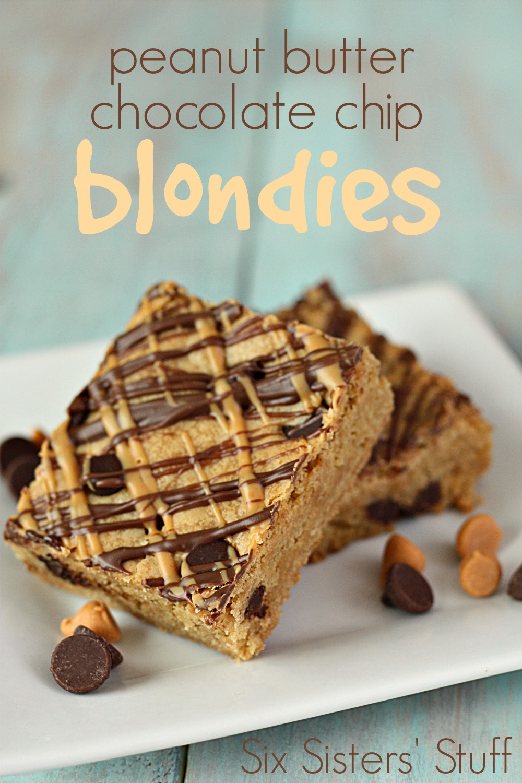 Peanut Butter Chocolate Chip Blondies Recipe