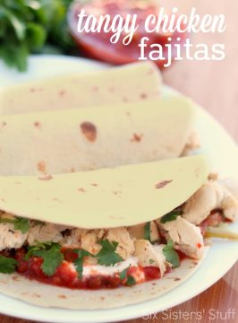 Tangy Chicken Fajitas Recipe