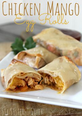 Chicken Mango Egg Rolls