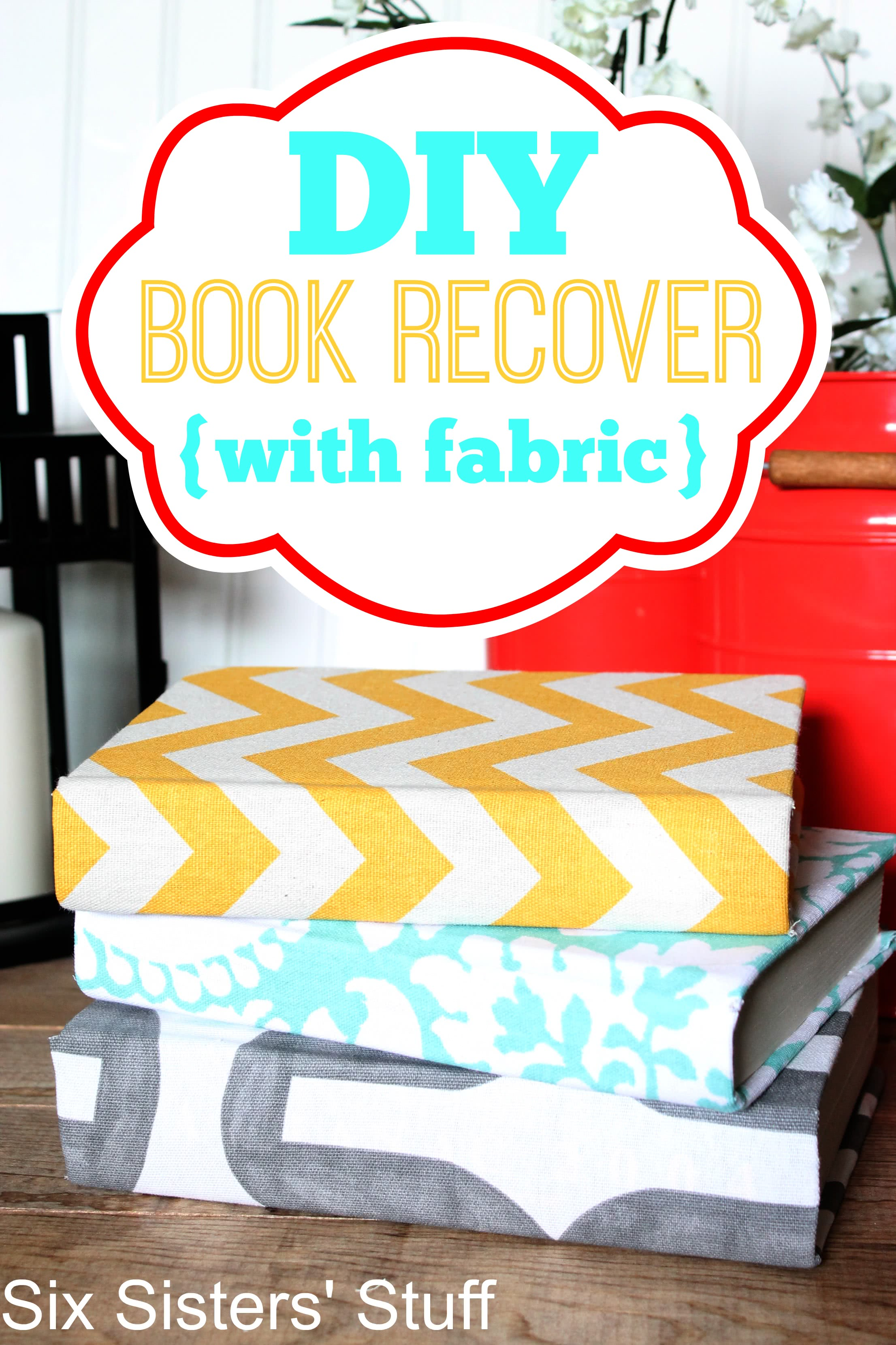 DIY Book Recover with Fabric