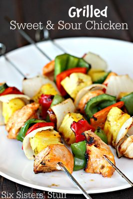 Grilled Sweet and Sour Chicken Kabobs Recipe