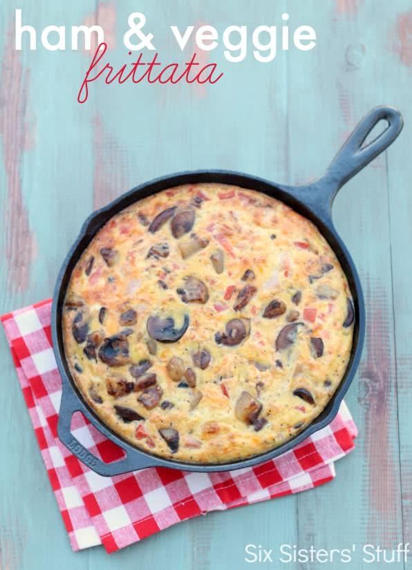 Ham and Veggie Frittata Recipe