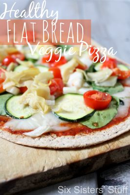 Healthy Flat Bread Veggie Pizza