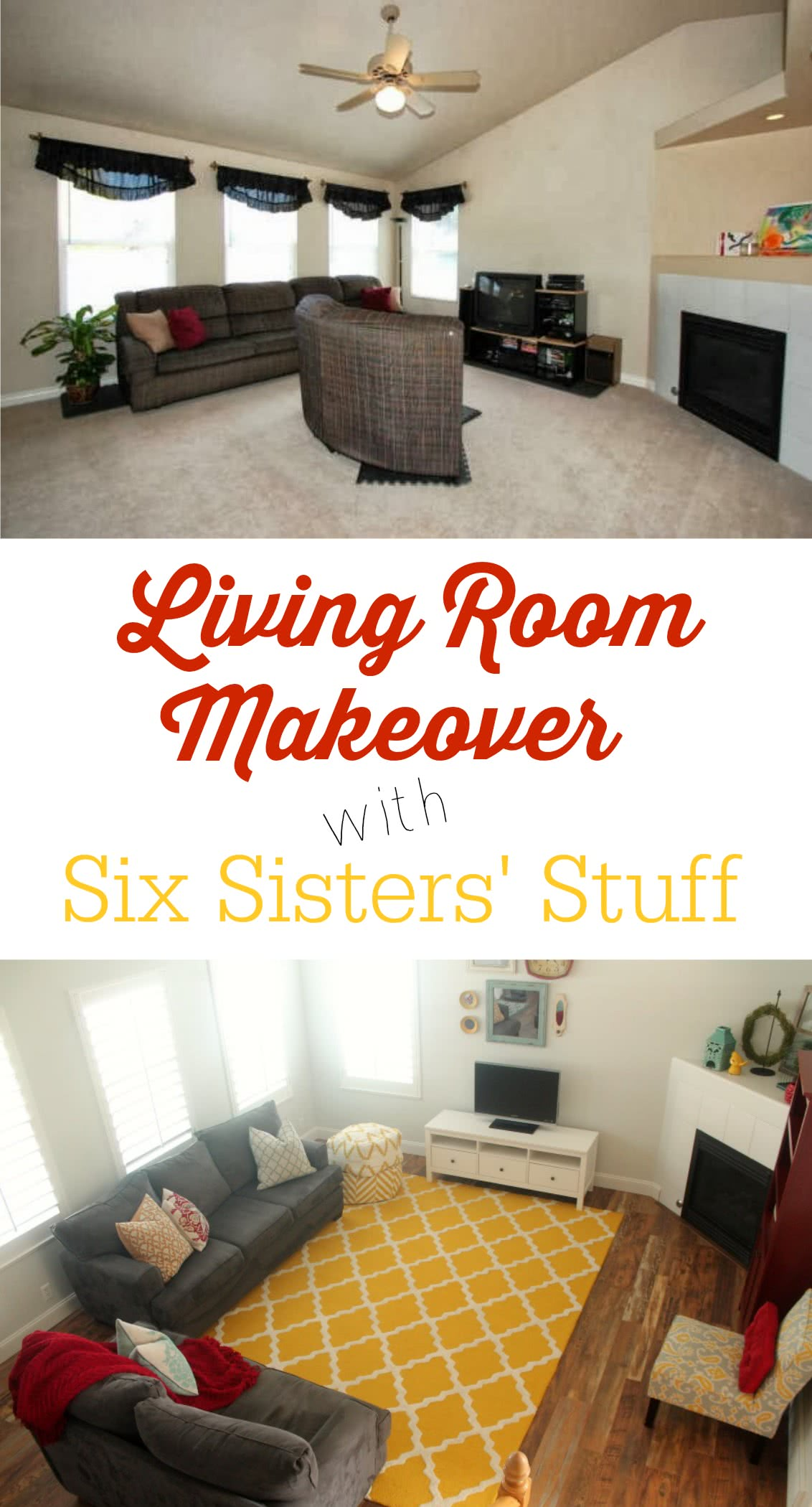 Six Sisters' Stuff Living Room Makeover