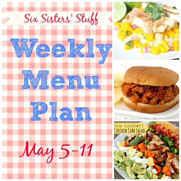 Weekly Menu Plan May 5-11
