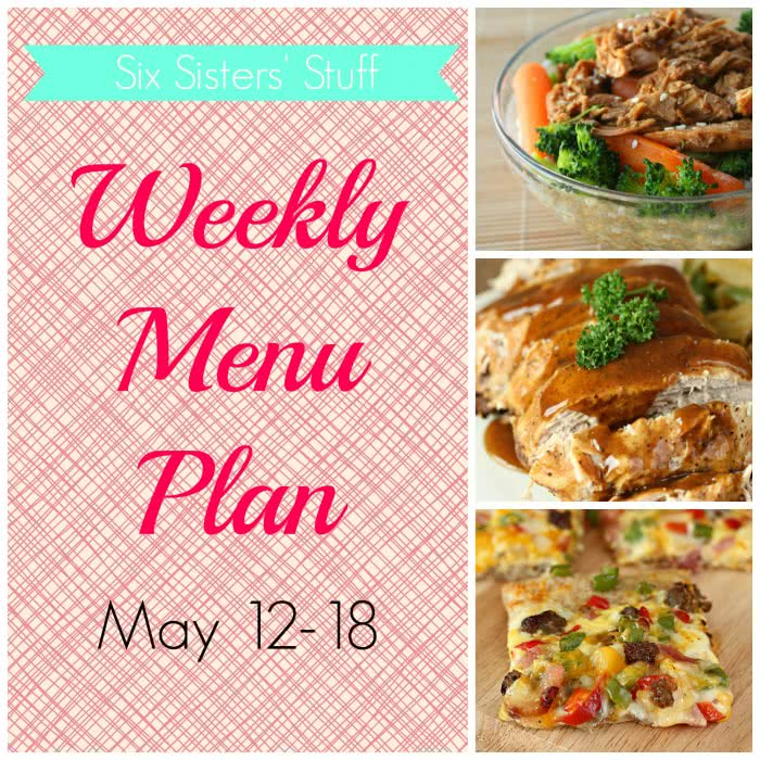 Weekly Menu Plan May 12-18