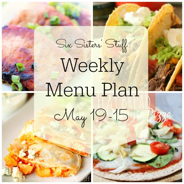 Weekly Menu Plan May 19-25