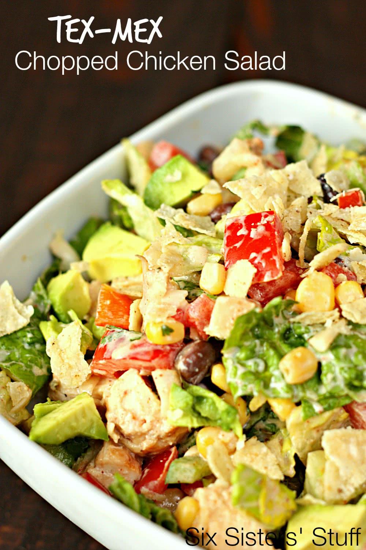 Tex Mex Chopped Chicken Salad Recipe Six Sisters Stuff