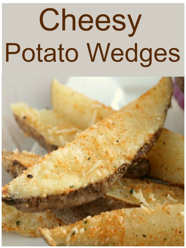 cheesy potato wedges - how to make potato wedges in microwave!