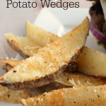 homemade potato wedges made in microwave