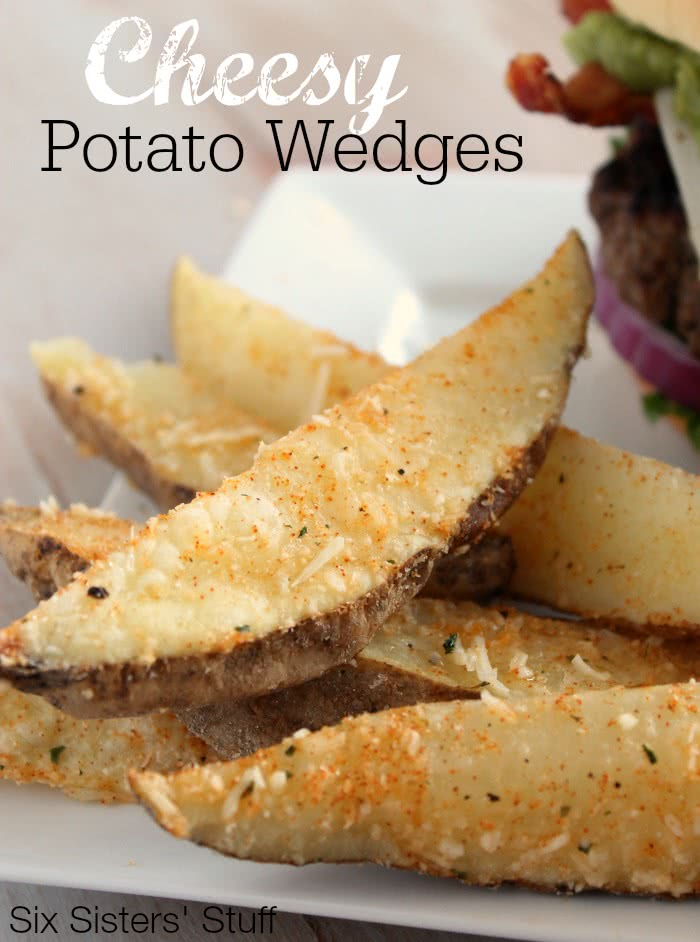 Cheesy Potato Wedges Recipe