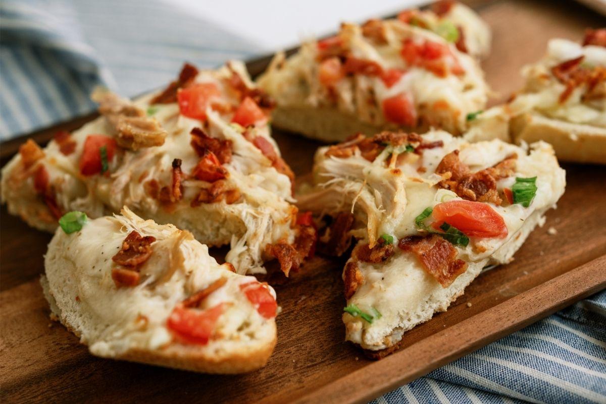 Chicken Bacon Alfredo French Bread Pizza Recipe