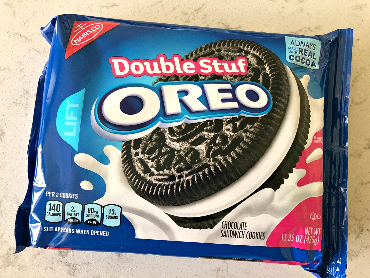 Package of Double Stuff Oreo Cookies