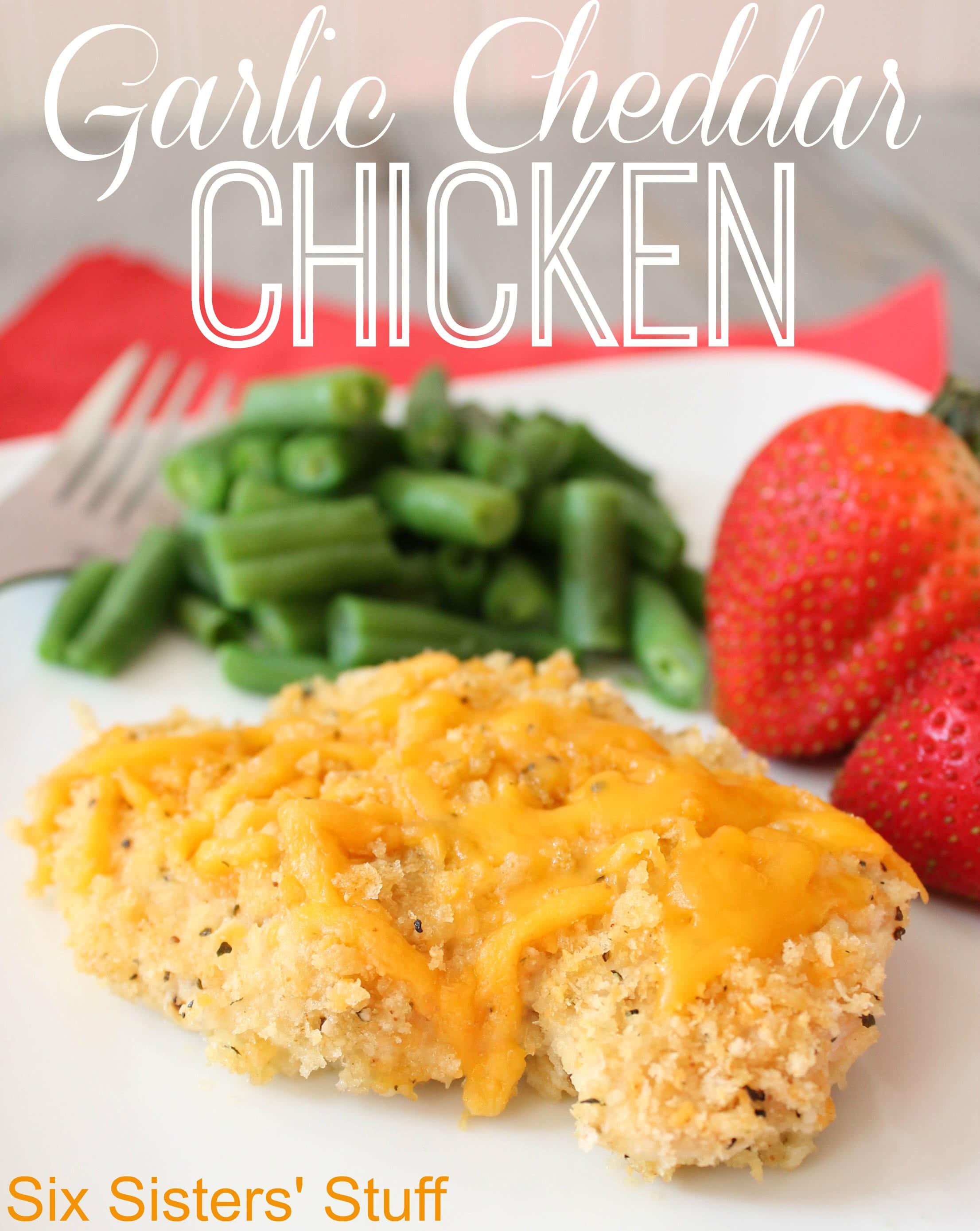 Garlic Cheddar Chicken Recipe