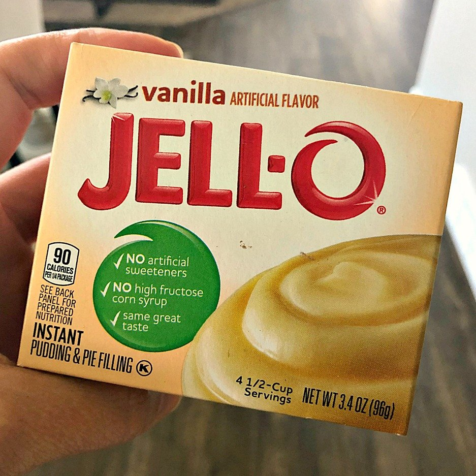 A box of Instant Vanilla Pudding