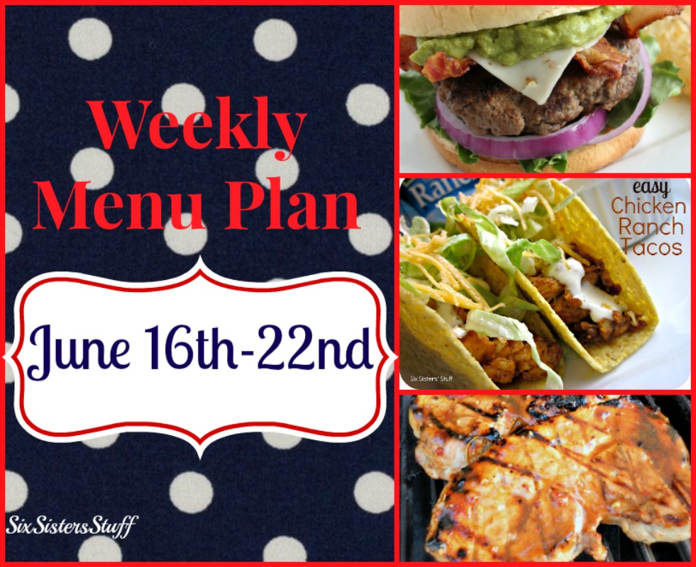 Weekly Menu Plan – June 16th-22nd