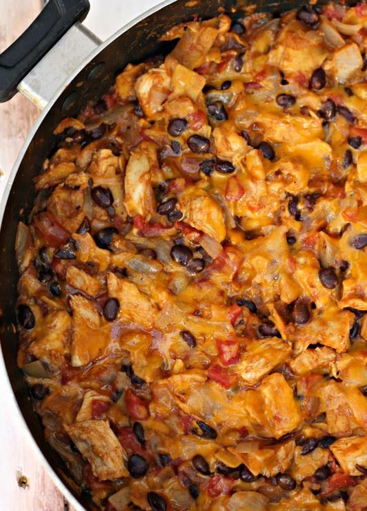 Chicken and Black Bean Enchilada Skillet Recipe