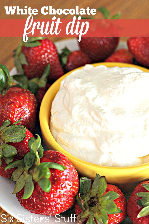 White Chocolate Pudding Fruit Dip Recipe