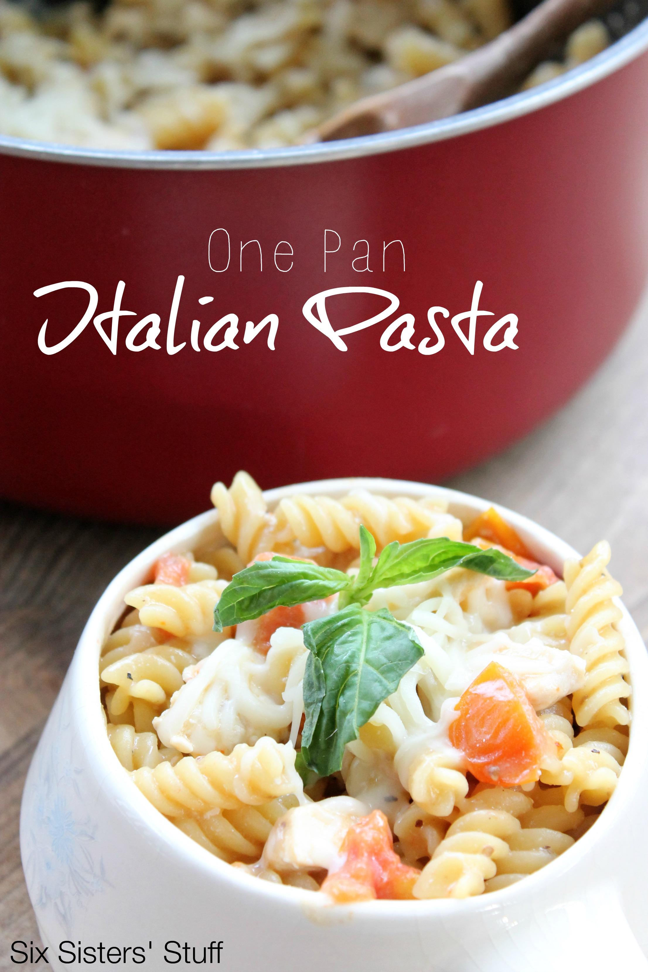 One Pan Italian Pasta Recipe