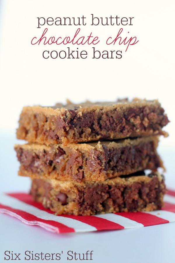Peanut Butter Chocolate Chip Cookie Bars Recipe